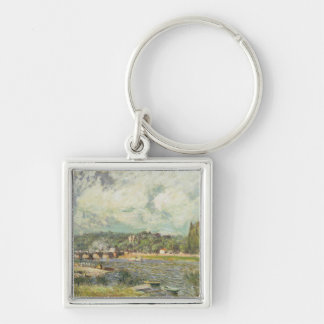 Alfred Sisley | The Bridge at Sevres Silver-Colored Square Keychain
