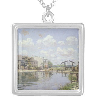 Alfred Sisley | The Canal Saint-Martin, Paris Silver Plated Necklace