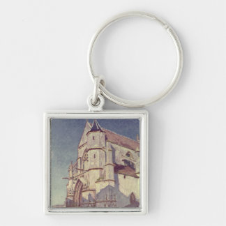 Alfred Sisley | The Church at Moret Silver-Colored Square Keychain