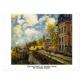 Alfred Sisley -  The Factory at Sevres postcard