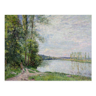 Alfred Sisley | The Riverside Road from Veneux Postcard