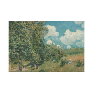 Alfred Sisley - The Road from Versailles Canvas Print