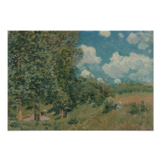 Alfred Sisley - The Road from Versailles Poster