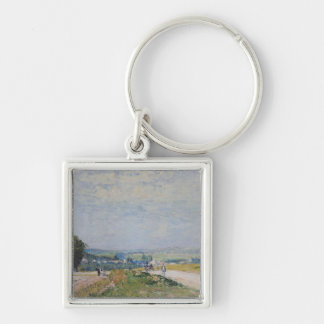 Alfred Sisley | The Road to Montbuisson Silver-Colored Square Keychain