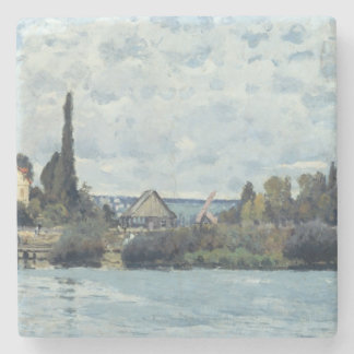 Alfred Sisley | The Seine at Bougival Stone Coaster