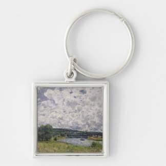 Alfred Sisley | The Seine at Suresnes Silver-Colored Square Keychain
