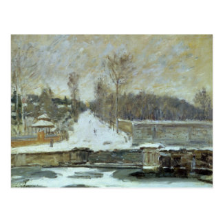 Alfred Sisley | The Watering Place at Marly-le-Roi Postcard