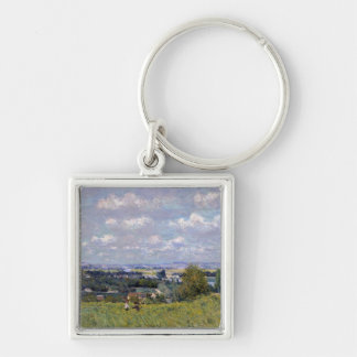 Alfred Sisley | Valley of the Seine at St-Cloud Silver-Colored Square Keychain
