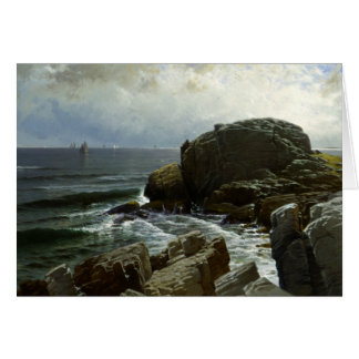 Alfred Thompson Bricher - Castle Rock, Marblehead Card