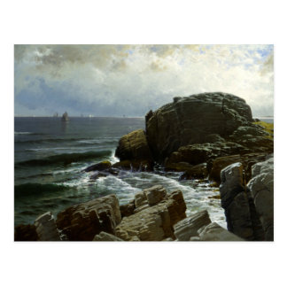 Alfred Thompson Bricher - Castle Rock, Marblehead Postcard