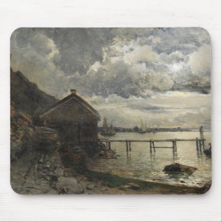 Alfred Wahlberg - Moonlight, Fjallbacka Mouse Pad