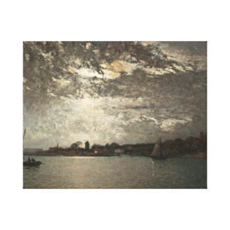 Alfred Wahlberg - Moonlight Mood, The Stockholm Canvas Print