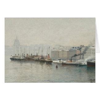 Alfred Wahlberg - Winter Landscape Over Skeppsbron Card