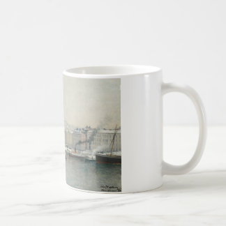 Alfred Wahlberg - Winter Landscape Over Skeppsbron Coffee Mug