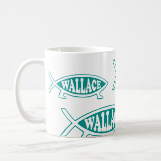 Alfred Wallace Evolution Fish Coffee Mug