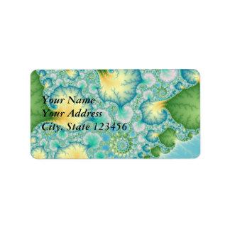 Algae - Fractal Label