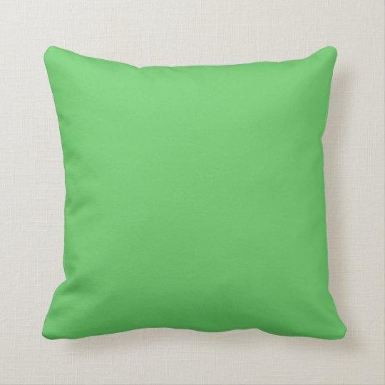 Algae Green Throw Pillow