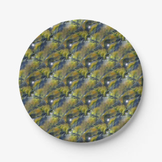 Algae of the Iceland hot sources Paper Plate