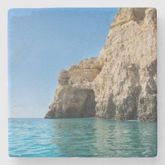 Algarve Coast marble drink coaster
