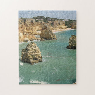 Algarve, Portugal, Benagil beach and rocks Jigsaw Puzzle