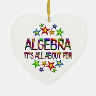 Algebra About Fun Ceramic Heart Ornament