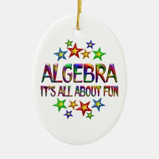 Algebra About Fun Ceramic Oval Ornament