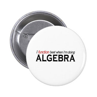 Algebra _ I function best 2 Inch Round Button