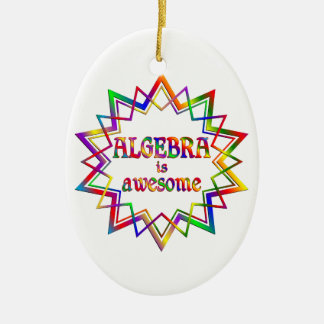 Algebra is Awesome Ceramic Oval Ornament