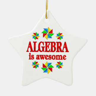 Algebra is Awesome Ceramic Star Ornament