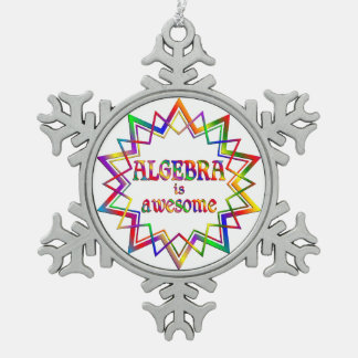 Algebra is Awesome Pewter Snowflake Ornament