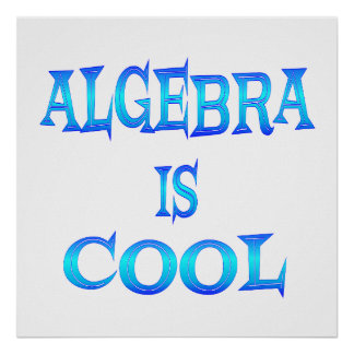 Algebra is Cool - Starting at $11.80 Poster