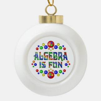 Algebra is Fun Ceramic Ball Christmas Ornament
