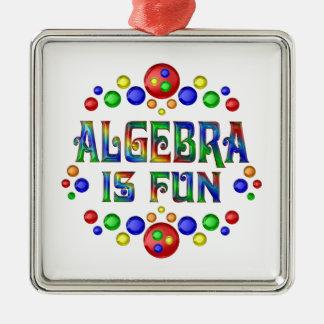Algebra is Fun Metal Ornament