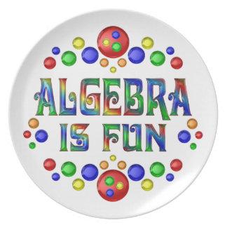 Algebra is Fun Plate