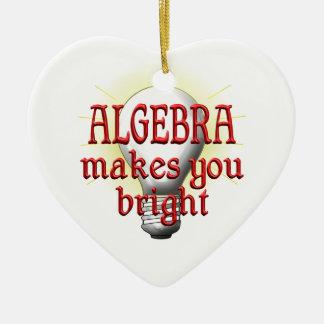 Algebra Makes You Bright Ceramic Heart Ornament