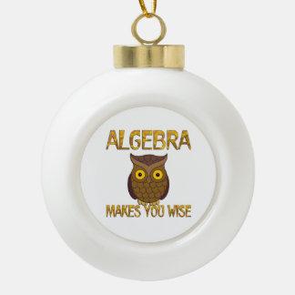 Algebra Makes You Wise Ceramic Ball Ornament