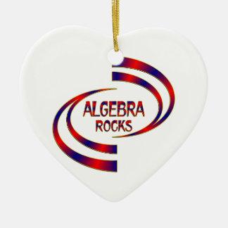 Algebra Rocks Ceramic Heart Ornament