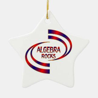 Algebra Rocks Ceramic Star Ornament
