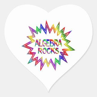 Algebra Rocks Heart Sticker