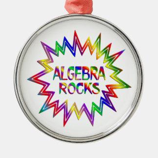 Algebra Rocks Metal Ornament