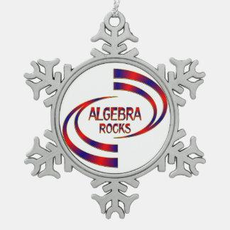 Algebra Rocks Pewter Snowflake Ornament