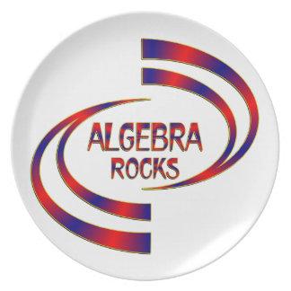 Algebra Rocks Plate