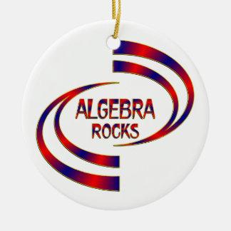Algebra Rocks Round Ceramic Ornament