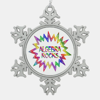 Algebra Rocks Snowflake Pewter Christmas Ornament