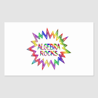 Algebra Rocks Sticker
