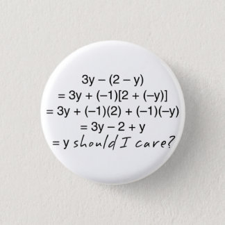 Algebra Why Should I Care Humor 1 Inch Round Button