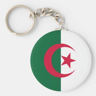 Algeria Basic Round Button Keychain