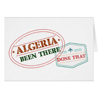 Algeria Been There Done That Card
