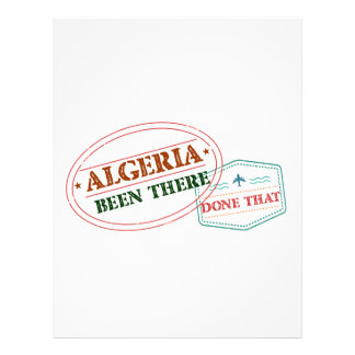 Algeria Been There Done That Letterhead