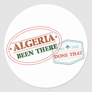 Algeria Been There Done That Round Sticker
